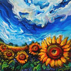 Cool...Ukraine Sunflower Fields Painting