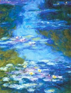 Monet Water Lillies poster  http://www.allposters.com/-sp/Water-Lilies-Posters_i2549003_.htm