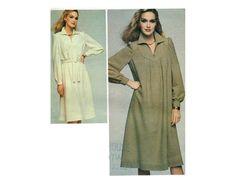 Classic shirt dress with yoke detail - 1970s Complete Original Butterick pattern #4047