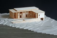 Vass House model in balsa wood at 1:200 by Földes Architects.  #architecture #design #modelmaking