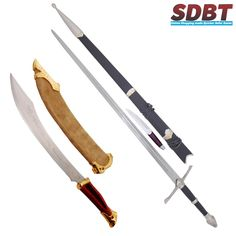 Elven #Knife & #Aragon Strider Ranger #Sword   #LordOfTheRings #LordOfRings