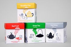 mind design cute colorful #tea #packaging PD