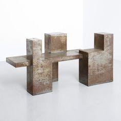 Base de table en acier oxydé - années 60 - Design Market