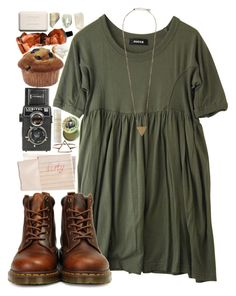 """""""Untitled #71"""" by hellosunshine23 ❤ liked on Polyvore featuring moda, Zucca, Dr. Martens, Pieces, Hahn, Natio, Burt's Bees, Aesop e Chanel"""