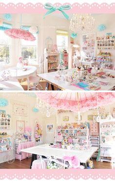 Jennifer Hayslip's #pastel #sweet #art #studio http://www.jenniferhayslip.com .So pretty !! Would like these colours in a cake shop: