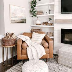 Formal Living Rooms, Home Living Room, Apartment Living, Living Room Decor, Living Spaces, Cozy Chair, Boho Home, Home Decor Inspiration, Decoration