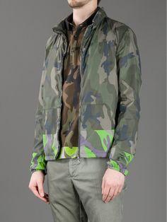 Valentino Camouflage Print Jacket.
