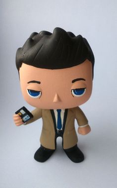 Supernatural FBI Castiel  Custom Funko Pop by SupernaturalPops