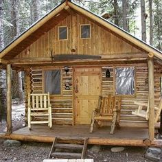 One day I'll have that log cabin in the woods. How To Build A Log Cabin, Small Log Cabin, Tiny Cabins, Tiny House Cabin, Little Cabin, Log Cabin Homes, Cabins And Cottages, Cozy Cabin, Tiny House Plans