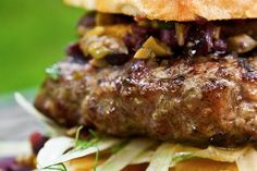Pork-Fennel Burger