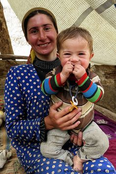 Yaghnobi Woman and Child.The Yaghnobi people are an ethnic minority in Tajikistan. They inhabit Tajikistan's Sughd province in the valleys of the Yaghnob, Qul and Varzob rivers. The Yaghnobis are considered to be descendants of the Sogdian-speaking peoples who once inhabited most of Central Asia beyond the Amu Darya River. They speak the Yaghnobi language, a living Eastern Iranian language (the other living members being Pashto, Ossetic and the Pamir languages).