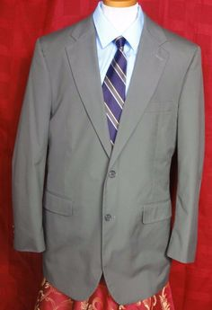 Brooks Brothers Men's Green 2 Button Cotton Blend Sport coat Size 42L #BrooksBrothers #TwoButton