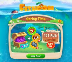 This is a selection of special offers windows for the Fishdom Playrix. Developed in collaboration with a team of artists and game designers of our company. Game Gui, Game Icon, Up Game, Game Ui Design, Ux Design, Pop Up Window, Game Props, Game Interface, Event Banner
