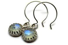 Blue Moonstone Earrings Dangle Earrings Moonstone by fifthheaven, $80.00