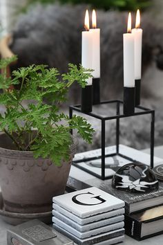 Always need a variety of candles, plants, books & coasters and gives more inviting look for family and friends..