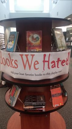 Books We Hated display - Nordonia Hills (idea found on Facebook)