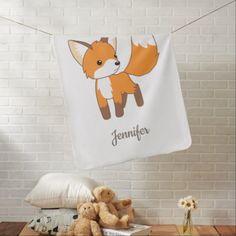 #Curious Little Fox Stroller Blanket - #cute #gifts #cool #giftideas #custom
