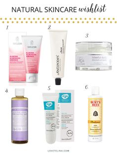 Natural and organic skincare products keep my skin happy the most. Here's some I'd love to try.
