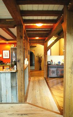 Timber Frame Home - Timber Frame Interior - Homestead Timber Frames - Crossville Tennessee