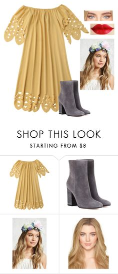 """""""mustard yellow"""" by gracegrimm on Polyvore featuring Gianvito Rossi and Forever 21"""