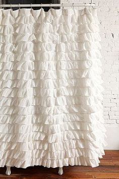 DIY Waves of Ruffles shower curtain tutorial-6 different patterns - this is my fave!
