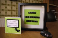 Handmade Computer Keyboard Frame from my Facebook page a dog called dill