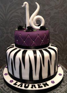 Glamourous 16th Birthday Cake