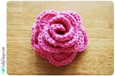 LollyChops: Wall Flowers Week - Finally Fuschia Friday! - crochet flower tutorial PLUS links to tutorials for basic stitches