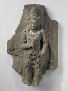Male deity, Anonymous, 800 - 930. Indonesië