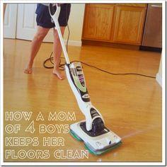 How A Mom of 4 Boys Keeps Her Floors Clean