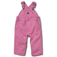 pink carhartt overalls. this will be daddy's outfit of choice for rea bug