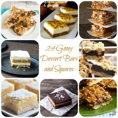 24 Gooey Dessert Bars and Squares #SnickerdoodleSunday