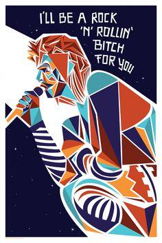 """O ser que negociou a Terra não era deste planeta. """"No Altar de um Homem das Estrelas"""" é uma galeria de pôsteres e um tributo ao cantor e compositor britânico David Bowie. Ao todo, 31 artistas de várias partes do mundo criaram ilustrações inspirados por elementos presentes nas letras, músicas e roupas do (...)"""