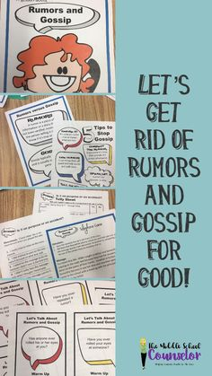 A lesson on rumors and gossip