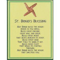 Saint Brigid Cross Irish House Blessing Holy Post Card Set of 8 House Blessing, Irish Blessing, St Brigid Cross, Brigid's Cross, St Bridget, Celtic Goddess, Brighid Goddess, Irish Culture, Irish Celtic