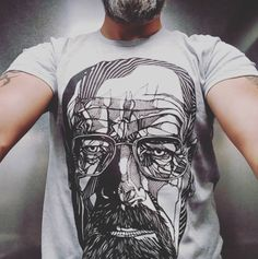 the home of limited edition clothing, prints and original artwork. Walter White, Tee Design, White Tees, Original Artwork, The Originals, Drawings, Mens Tops, Clothes, Draw
