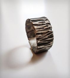 Woodland Bark Ring by Heron and Lamb on Scoutmob Shoppe. A rustic ring molded with real tree bark.