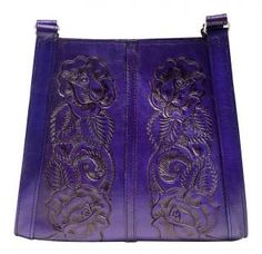 Mexil Tooled Leather Purse lps-purple leather purse