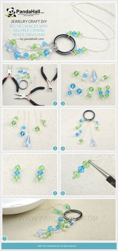 This tutorial aims at demonstrating you a jewelry craft idea regarding how to make big necklaces with multiple crystal beads fringe. Like the dangling beads!!!!
