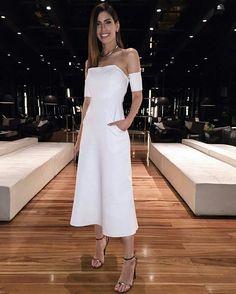 Vestido branco  @ camilacoutinho