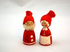 Scandinavian Gnome Couple Christmas Nisse by LittleChristmasStore