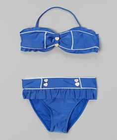 Love this Blue Hearts Bikini - Girls by Jantzen on #zulily! #zulilyfinds