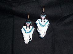 Native american angle dangle bead earrings