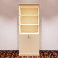 Retail Display with Doors Custom Parametric Revit Furniture Family Revit Family, Model Shop, Door Shelves, Single Doors, Door Design, 3 D, Retail, Display, Furniture