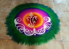 New skin painting easy 45 Ideas Easy Rangoli Designs Diwali, Rangoli Designs Latest, Rangoli Designs Flower, Colorful Rangoli Designs, Small Rangoli, Rangoli Ideas, Rangoli Designs Images, Flower Rangoli, Beautiful Rangoli Designs
