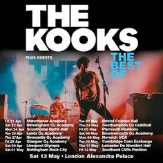 Manchester Academy, The Kooks, Southampton, Leeds, Plymouth, Birmingham, Bristol, Music, Movie Posters