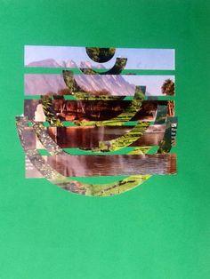 Dos imágenes, por medio de entramados con espacios intermedios.