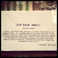 this is why old books smell so good :)
