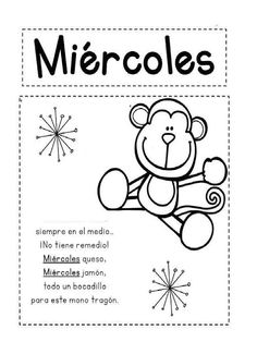 Preschool Forms, Preschool Learning Activities, Preschool Worksheets, Preschool Classroom, Kindergarten Coloring Pages, Elementary Spanish, Rhyming Words, Spanish Language Learning, Spanish Lessons