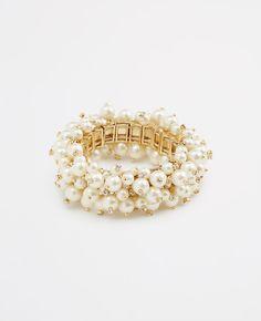 Pearlized Bobble Stretch Bracelet | Ann Taylor